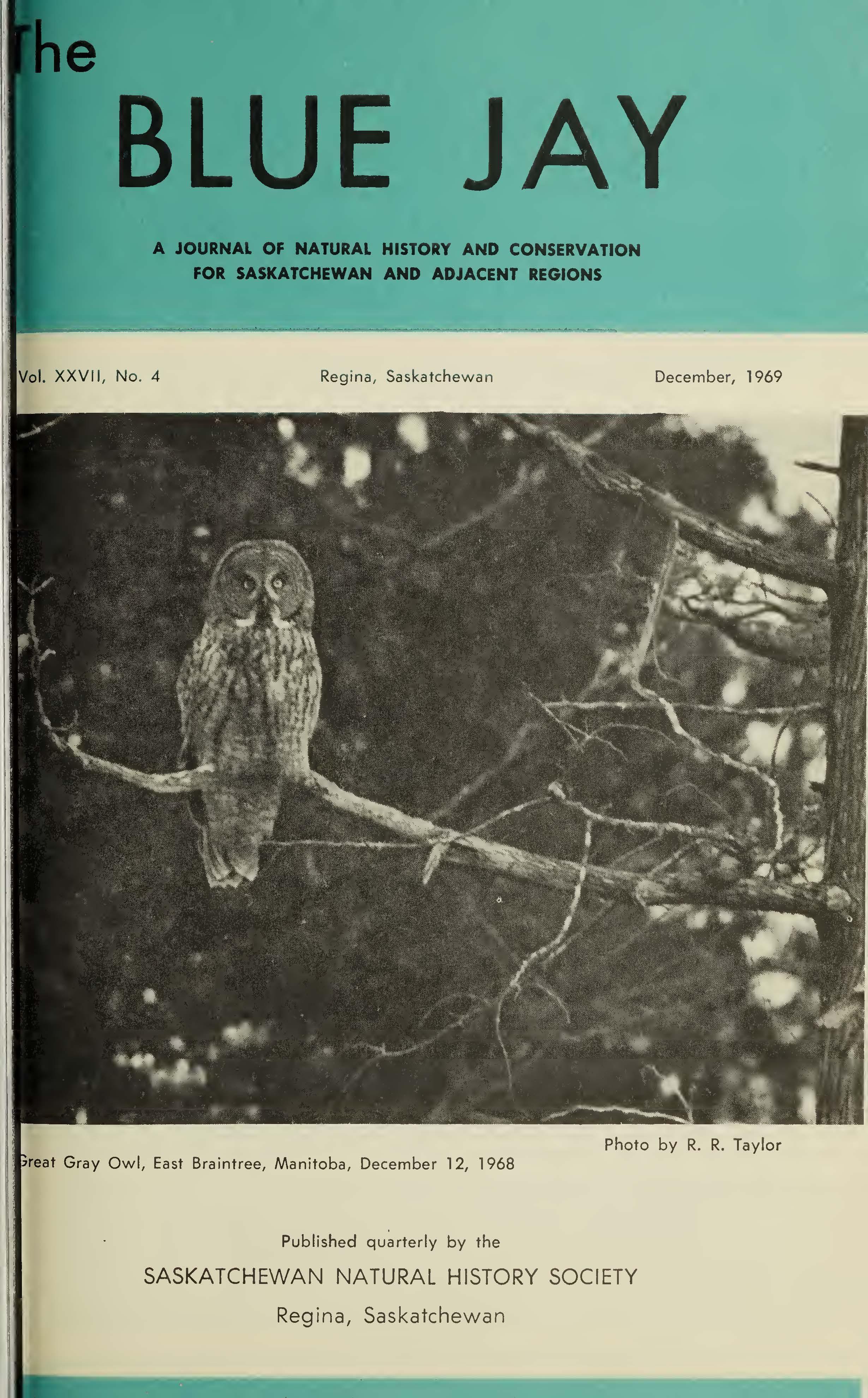 View Vol. 27 No. 4 (1969): December 1969